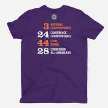 Load image into Gallery viewer, CU Football Stats T-Shirt, Purple