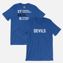 Load image into Gallery viewer, Devils Football Stats T-Shirt