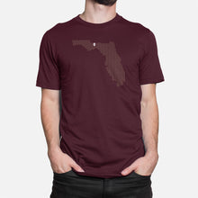 Load image into Gallery viewer, Tallahassee, Florida Football Map T-Shirt