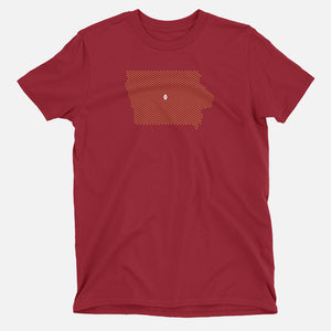 Ames, Iowa Football Map T-Shirt
