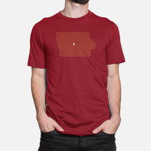 Load image into Gallery viewer, Ames, Iowa Football Map T-Shirt