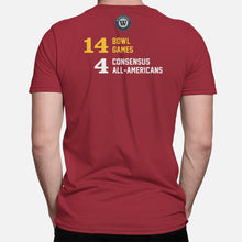 Load image into Gallery viewer, Ames, Iowa Football Map Stats T-Shirt