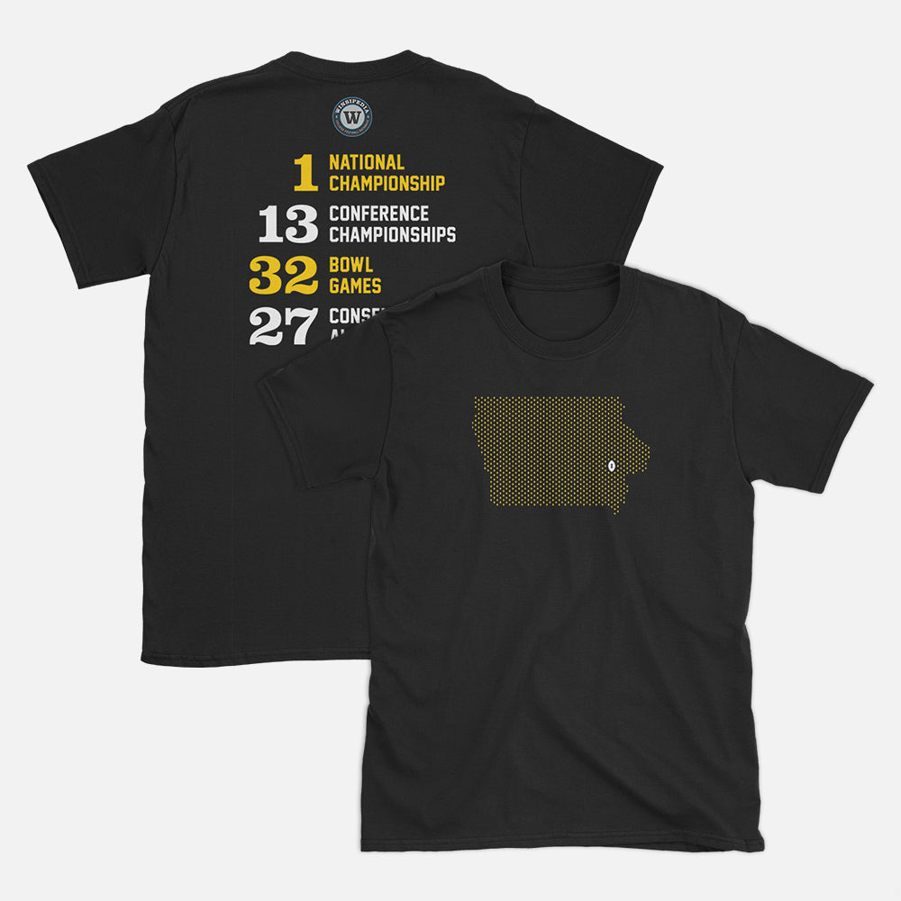 Iowa City, Iowa Football Map Stats T-Shirt