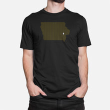 Load image into Gallery viewer, Iowa City, Iowa Football Map Stats T-Shirt