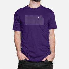 Load image into Gallery viewer, Manhattan, Kansas Football Map Stats T-Shirt, Purple