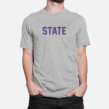 Load image into Gallery viewer, STATE Football Stats T-Shirt (Kansas), Heather Gray