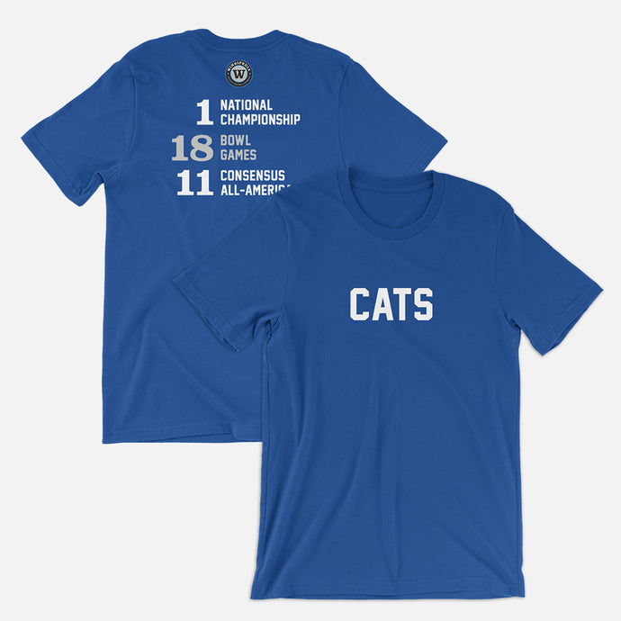 Cats Football Stats T-Shirt