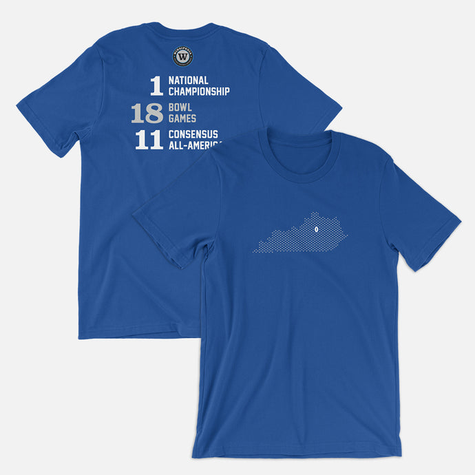 Lexington, Kentucky Football Map Stats T-Shirt