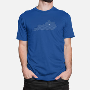 Lexington, Kentucky Football Map T-Shirt