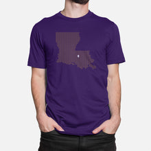 Load image into Gallery viewer, Baton Rouge, Louisiana Football Map Stats T-Shirt