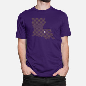 Baton Rouge, Louisiana Football Map Stats T-Shirt