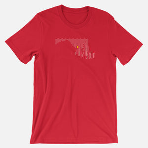 College Park, Maryland Football Map T-Shirt