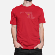 Load image into Gallery viewer, College Park, Maryland Football Map T-Shirt