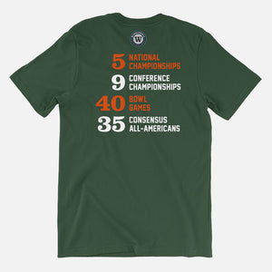 The U Football Stats T-Shirt, Green