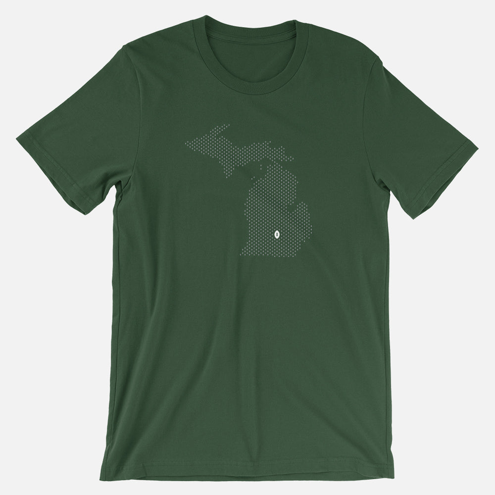 East Lansing, Michigan Football Map T-Shirt