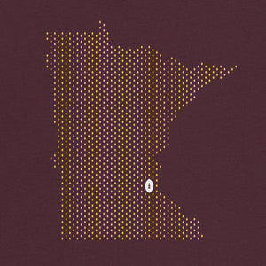 Minneapolis, Minnesota Football Map Stats T-Shirt