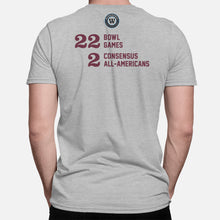 Load image into Gallery viewer, Starkville, Mississippi Football Map Stats T-Shirt, Heather Gray