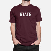 Load image into Gallery viewer, STATE Football Stats T-Shirt (Mississippi), Maroon