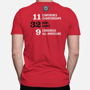 STATE Football Stats T-Shirt (North Carolina), Red