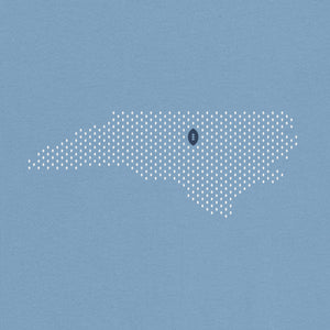 Chapel Hill, North Carolina Football Map T-Shirt