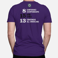 Load image into Gallery viewer, Cats Football Stats T-Shirt, Purple