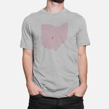 Load image into Gallery viewer, Columbus, Ohio Football Map Stats T-Shirt, Heather Gray