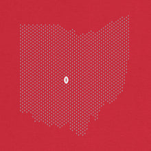 Load image into Gallery viewer, Columbus, Ohio Football Map Stats T-Shirt, Red