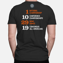 Load image into Gallery viewer, Stillwater, Oklahoma Football Map Stats T-Shirt, Black