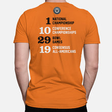 Load image into Gallery viewer, Stillwater, Oklahoma Football Map Stats T-Shirt, Orange