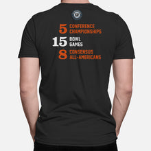 Load image into Gallery viewer, Corvallis, Oregon Football Map Stats T-Shirt, Black