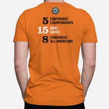 Load image into Gallery viewer, Corvallis, Oregon Football Map Stats T-Shirt, Orange