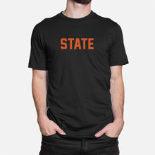 Load image into Gallery viewer, STATE Football Stats T-Shirt (Oregon), Black