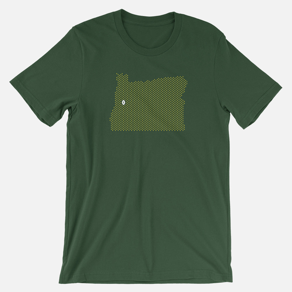 Eugene, Oregon Football Map T-Shirt