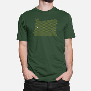 Eugene, Oregon Football Map Stats T-Shirt