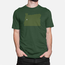 Load image into Gallery viewer, Eugene, Oregon Football Map T-Shirt