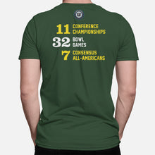 Load image into Gallery viewer, Eugene, Oregon Football Map Stats T-Shirt