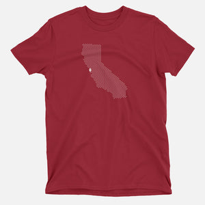 Palo Alto, California Football Map T-Shirt