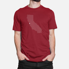 Load image into Gallery viewer, Palo Alto, California Football Map Stats T-Shirt