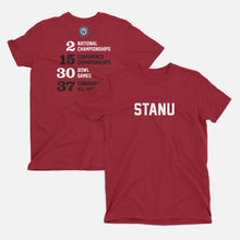 Load image into Gallery viewer, StanU Football Stats T-Shirt