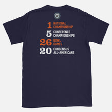 Load image into Gallery viewer, New York's College Football Stats T-Shirt, Navy
