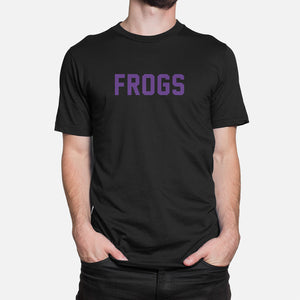 Frogs Football Stats T-Shirt, Black