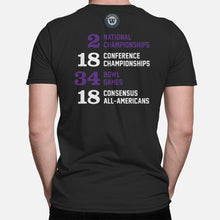 Load image into Gallery viewer, Frogs Football Stats T-Shirt, Black