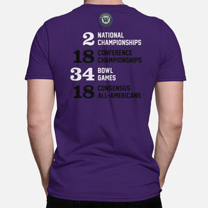 Frogs Football Stats T-Shirt, Purple