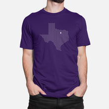 Load image into Gallery viewer, Fort Worth, Texas Football Map Stats T-Shirt, Purple