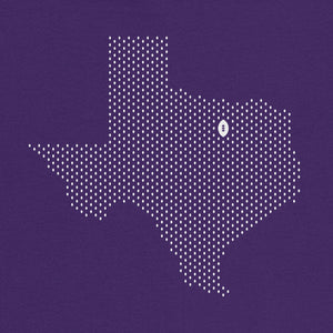 Fort Worth, Texas Football Map T-Shirt, Purple