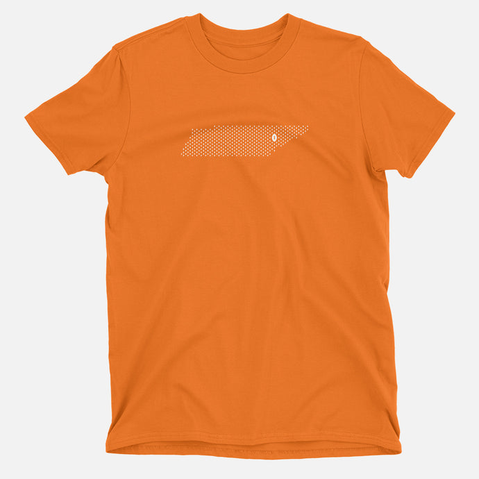 Knoxville, Tennessee Football Map T-Shirt, Orange