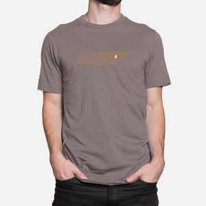 Knoxville, Tennessee Football Map T-Shirt, Asphalt