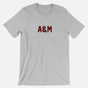 A&M Football Stats T-Shirt, Heather Gray