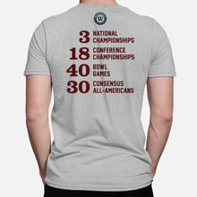 Load image into Gallery viewer, A&M Football Stats T-Shirt, Heather Gray