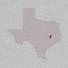 Load image into Gallery viewer, College Station, Texas Football Map T-Shirt, Heather Gray
